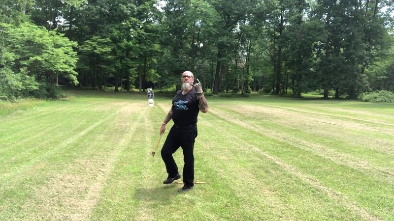 Long distance axe throw ! Wilkie Warriors Vikings