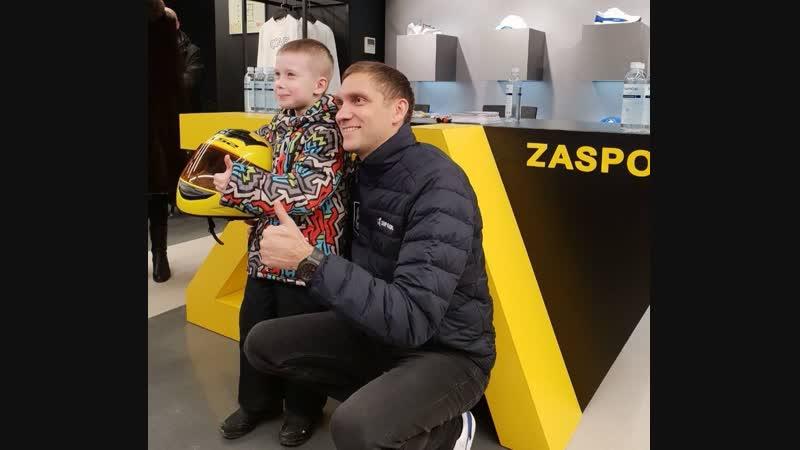 Встреча Виталия Петрова с болельщиками во флагманском бутике Zasport