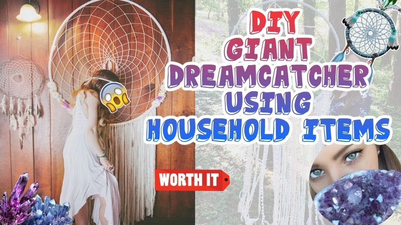 DIY GIANT Dreamcatcher | Using Household Items | Bedroom Ideas! EASY!