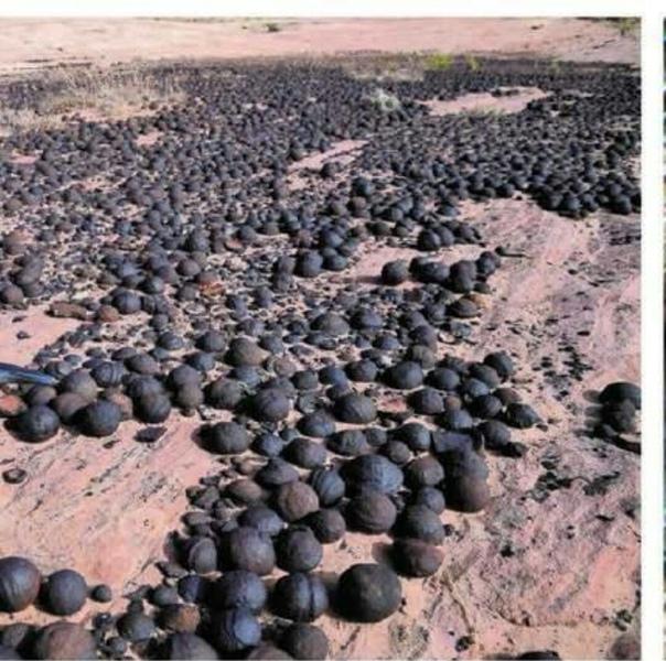 """Секрет """"мраморных шаров Моки"""", найденных в Монголии и в штате Юта. Они с Марса Исследователи предлагают новую теорию, объясняющую происхождение необычных шаров, обнаруженных в разных регионах"""
