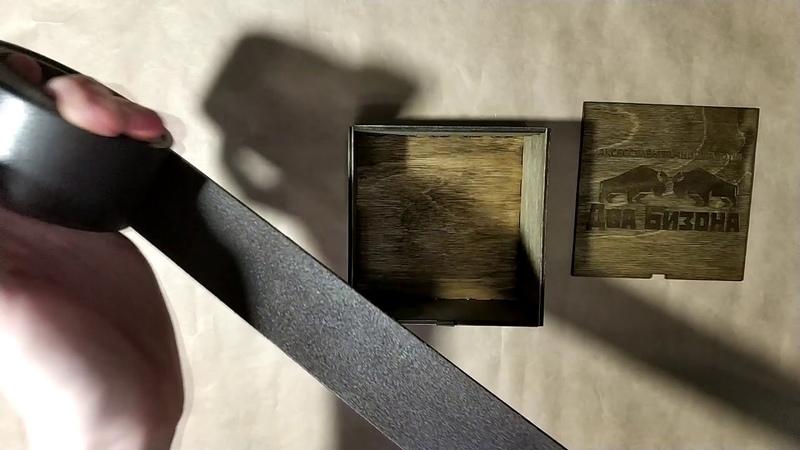 Обзор ремня ручной работы из телячьей кожи