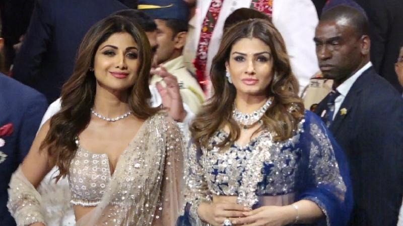 Shilpa Shetty and Raveena Tandon Face-to-Face at Isha Ambani Wedding