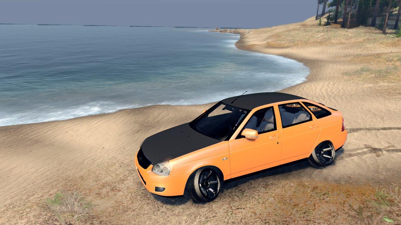 Lada Priora Hatchback Oni-kyan для Spintires - Скриншот 1