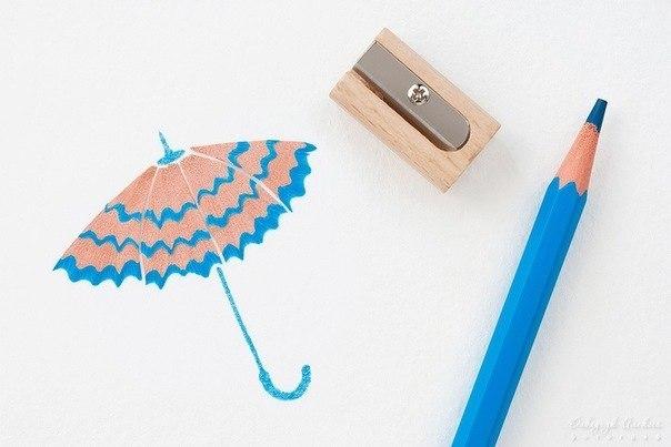 Puntadas para niños: Manualidades con virutas de lápices