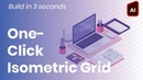 How To Create an Isometric Grid in Adobe Illustrator in 3 seconds with a single click