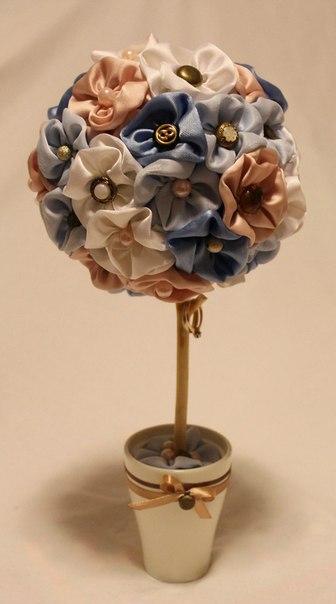 Дерево из атласных лент своими руками  Автор: Елена Михайлова