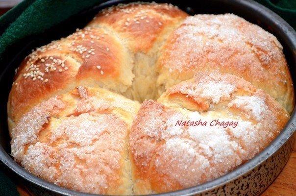 Очень вкусные булочки с карамельками . Автор: Наташа