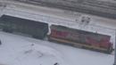 Тепловоз ЧМЭ3-4228 с грузовым поездом