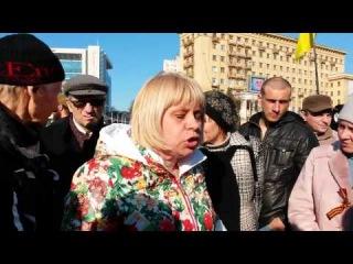 Ольга говорит жесткую правду на ОРТ   Митинг Защитников Харькова 22 03 2014