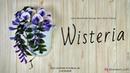 Cara Membuat Bunga Wisteria Dari Kain Flanel - How To Make Wisteria Felt Flower