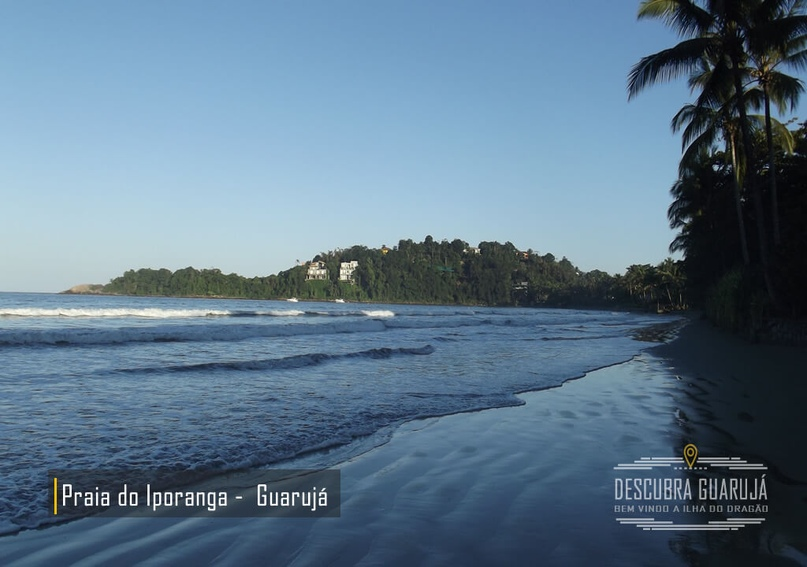 Vista da praia do Iporanga