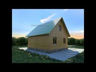 Проект дома из бруса Д 33