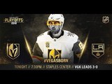 NHL 18 PS4. 2018 STANLEY CUP PLAYOFFS FIRST ROUND GAME 4 WEST GOLDEN KNIGHTS VS KINGS. 04.17.2018. (NBCSN) !