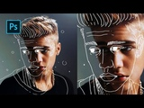 How to Create Outline Portrait Effect in Photoshop - Photoshop Tutorials