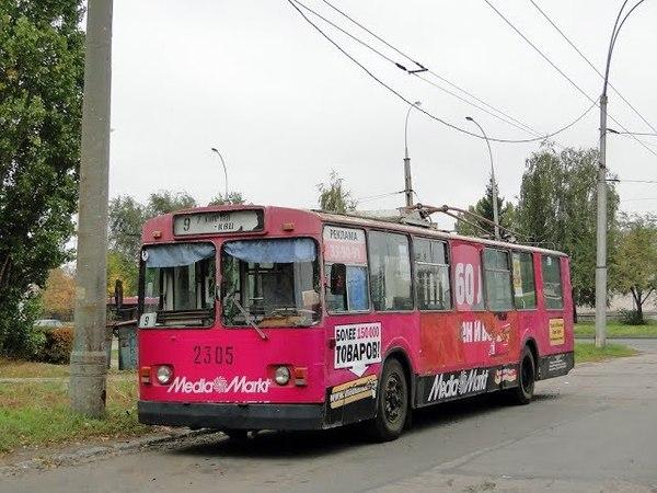 Поездка на троллейбусе ЗиУ-682В, борт.№ 2305, г.Тольятти