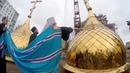 На храме св блж Матроны Московской в Сипайлово засияли купола