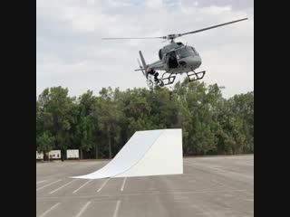 Kriss Kyle - дроп с вертолета   BMX
