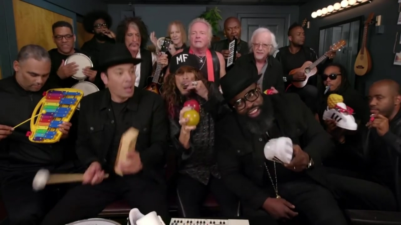 Jimmy Fallon, Aerosmith The Roots Sing Walk This Way (Classroom Instruments)