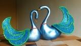 DIY Craft - Blue swan ornaments Wedding gift idea Tutorial By Punekar Sneha.