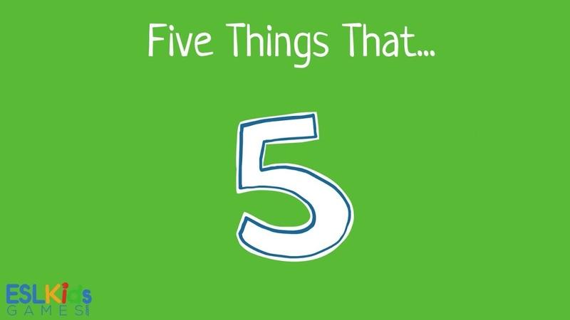 ESL Game: Five things that
