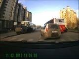 ДТП в Уфе на перекрёстке Цюрупы и Кирова запись с регистратора