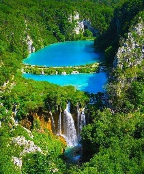 Плитвицкие озера летом, Хорватия