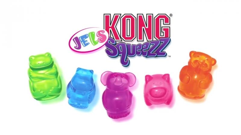 KONG Squeezz JELS игрушки с пищалкой для собак