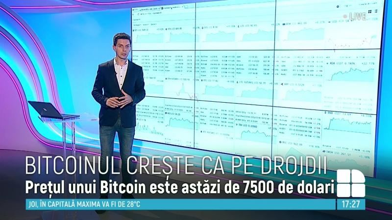 Bitcoinul creşte ca pe drojdii. La ce sumă este cotat în momentul de faţă PUBLIKA .MD - AICI SUNT ȘTIRILE