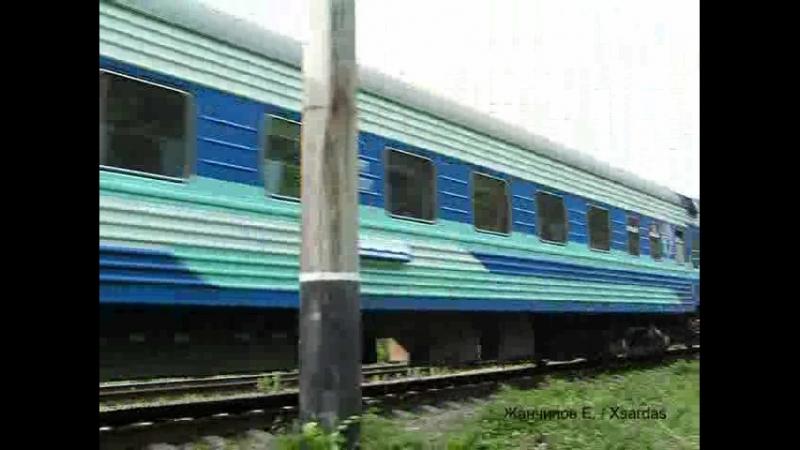 ЭП1-005 с поездом, Уссурийск ДВЖД, 2005 г.