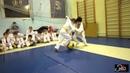 Специально подготовительное упражнение для овладения техникой дзюдо ПОДСЕЧКА с набивным мячом 2