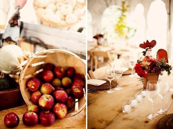 Свадьба в Рябина Бар - Украшение зала на свадьбу в