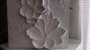 Барельеф,магнолия,гипс.Sculptural painting, magnolia, gypsum