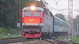 Электровоз ЧС7-318 с поездом№005Я Москва-Киев станция Нара 11.07.2018