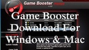 Game Booster 2.0 Download Windows And Mac - YouTube