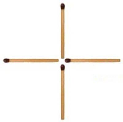 Проверим кто еще в состоянии думать  Переместите одну спичку так, чтобы получился квадрат. Справляются с этой задачей только люди с IQ выше 120, 90% дают неправильный ответ. .