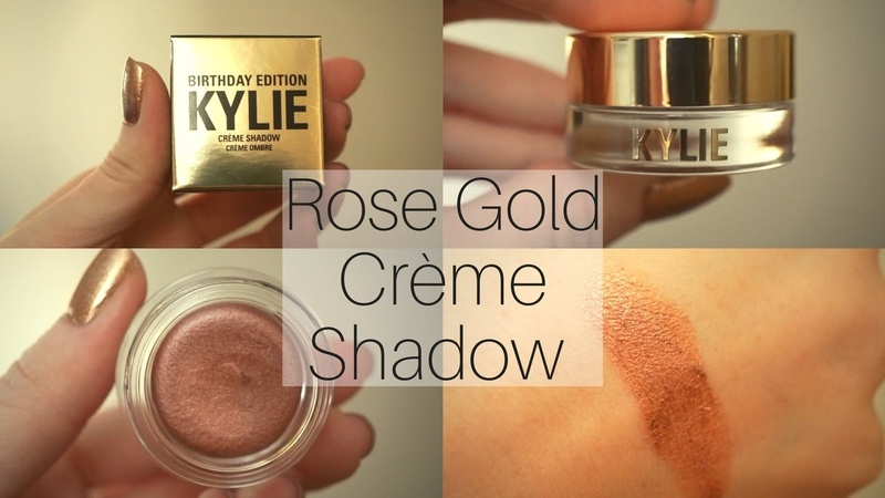 Kylie Cosmetics Rose Gold Creme Shadow Swatch