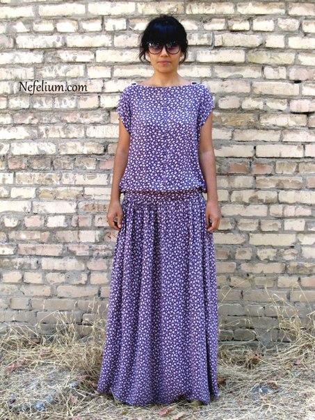 Очень простая выкройка стильного платья… (5 фото)