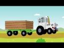 Песенка - ЕДЕТ ТРАКТОР - Развивающие мультики для детей - Синий трактор_VIDEOMEG