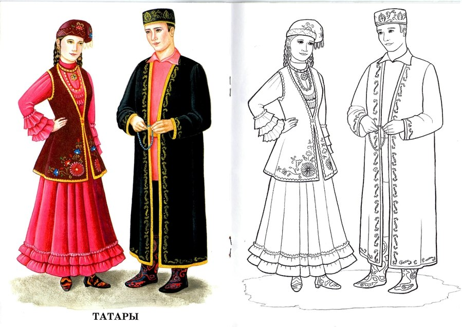 Раскраска для девочек принцессы в красивых платьях