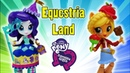 Rarity and Applejack at Equestria Land Theme Park - Costume Creation and Snack Creation Playset