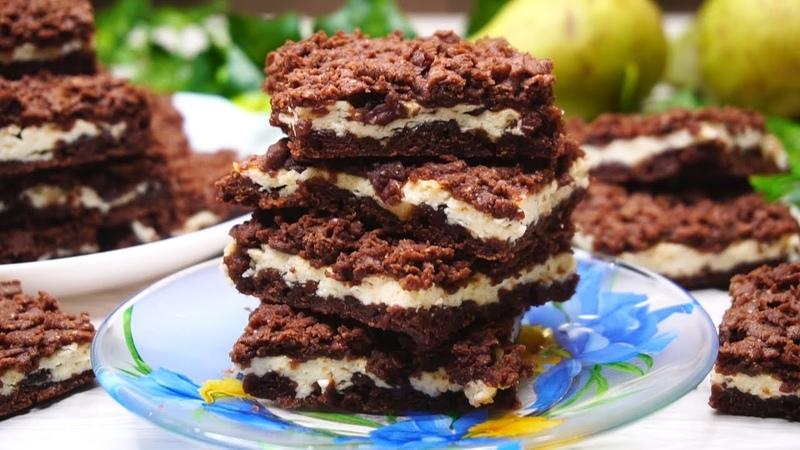 Какое же оно Вкусное Шоколадное печенье с творогом