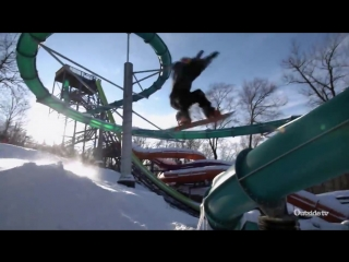 Snowboarding in an empty waterpark - xtreme collxtion