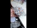 Серебряный гребень с камнями Сваровски