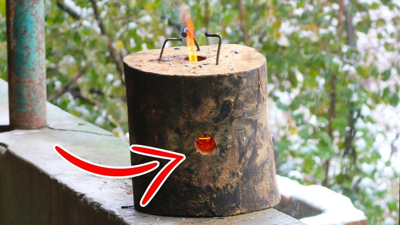 WOW AWESOME DIY IDEA - How To Make a Log Rocket Stove Easily