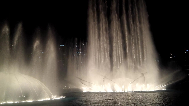 Dubai Fountain Show Февраль 2018