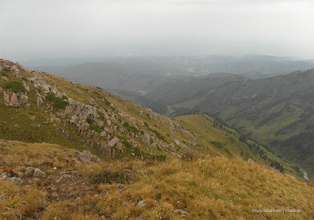 Обзор с тропы на Фурмановку сверху 2018