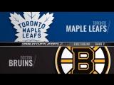 Stanley Cup Playoffs 2018 R1 Game 2 Toronto Maple Leafs-Boston Bruins