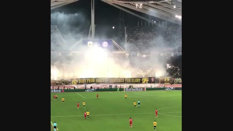AEK Athens pyroshow