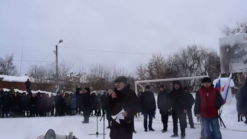 Митинг против мусорной реформы и тарифов ЖКХ Резолюция митинга выступление М Сунцовой Б Зимина Рот Фронт