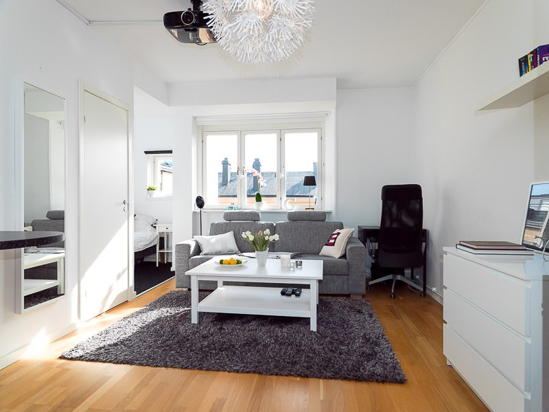 Квартира-студия 31 м в Европе с мини-спальней.